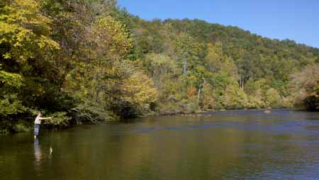 Trout Fishing Tuckaseegee River NC