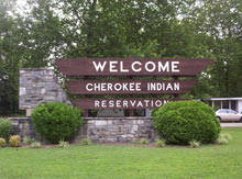 Cherokee NC Welcome Sign