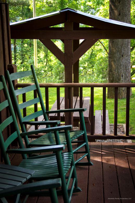 porch and picnic area