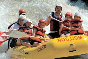 NOC White Water Rafing & Cabin Packages Available